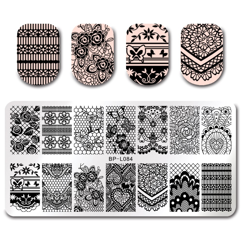 BORN PRETTY 7Pcs Nail Art Stamping Template Flower Fruit Summer Manicure Print DIY Image Plate with Stamper Kit by Born Pretty (Image #5)