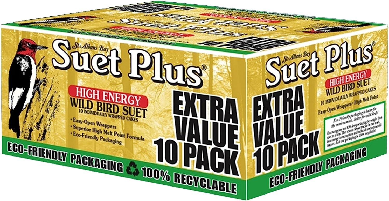 Suet Plus Extra Value Pack Wild Bird Suet - 10 Suet Cakes