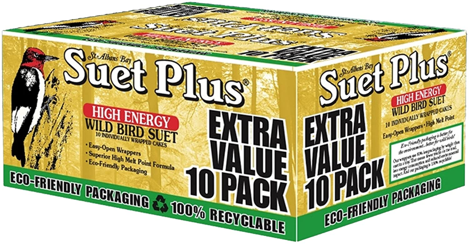 Wildlife Sciences Suet Plus Extra Value 10-Pack Feeder 240