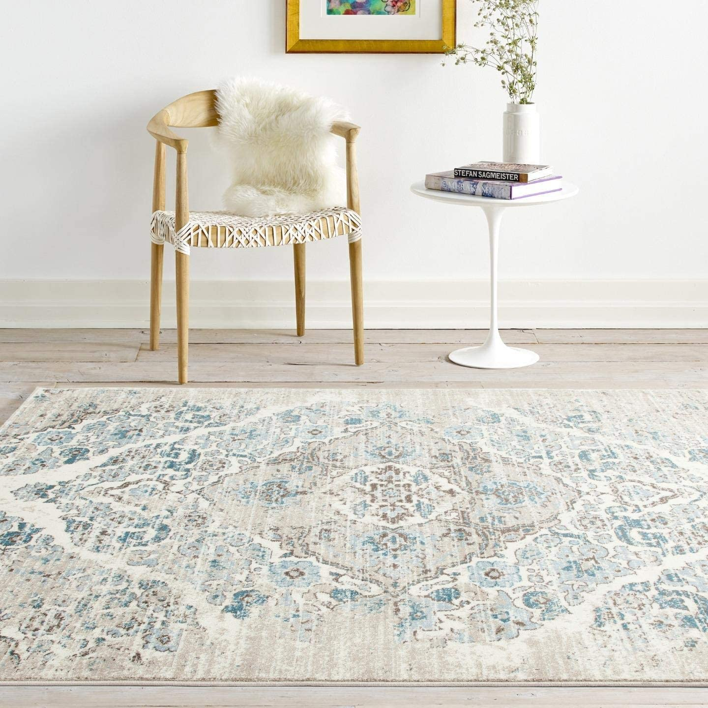 Amazon Com 4620 Distressed Cream 8 9 X12 6 Area Rug Carpet Large New Kitchen Dining