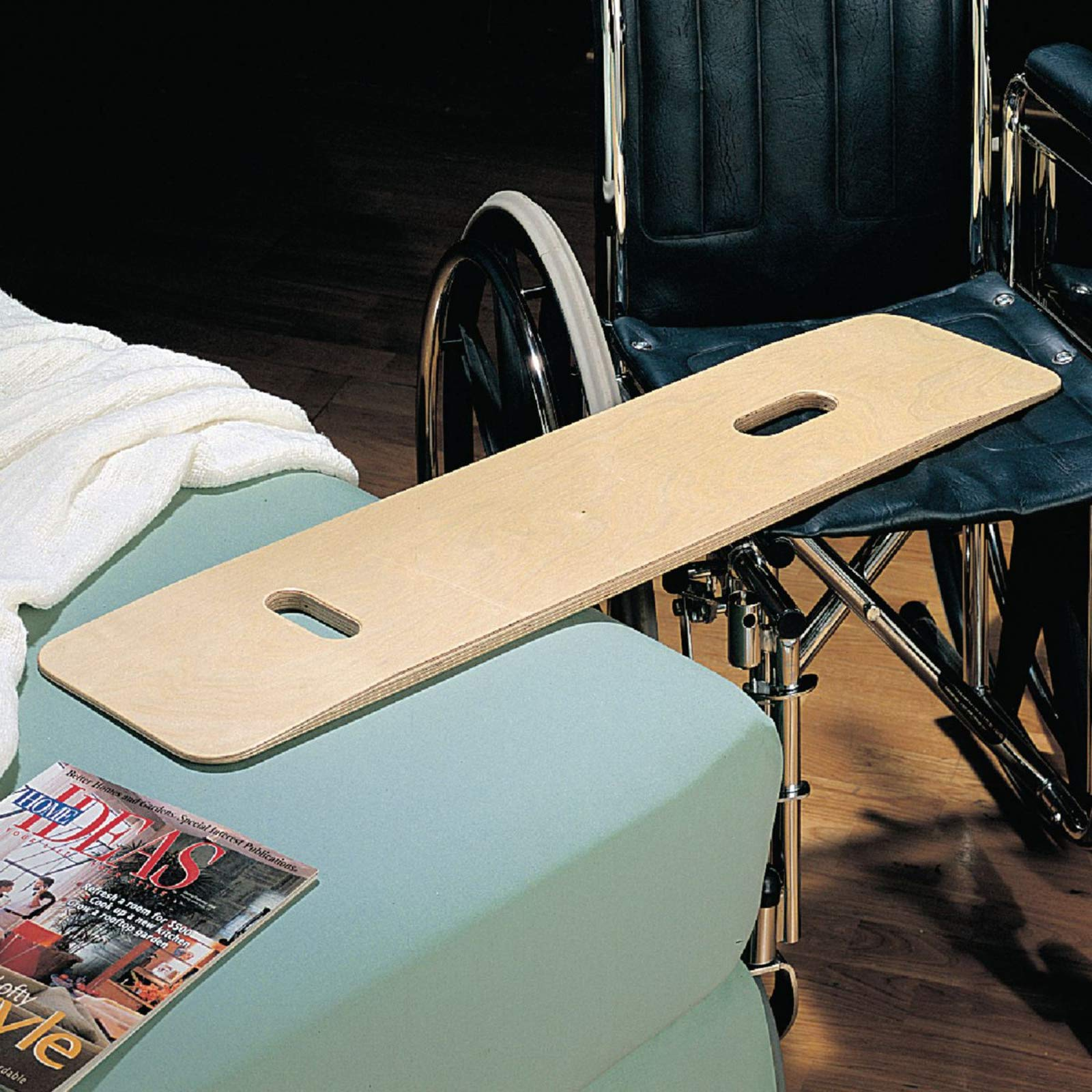 Sammons Preston Bariatric Transfer Board for Wheelchair Users, Wooden Slide Board with Handles, 35'' Long & Strong Wood Slider Board with 600 lbs. Capacity by Sammons Preston (Image #4)