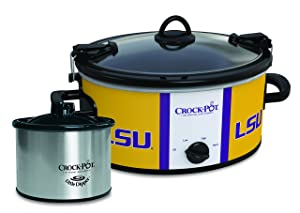 Louisiana State Tigers Collegiate Crock-Pot Cook & Carry Slow Cooker with Bonus 16-ounce Little Dipper Food Warmer