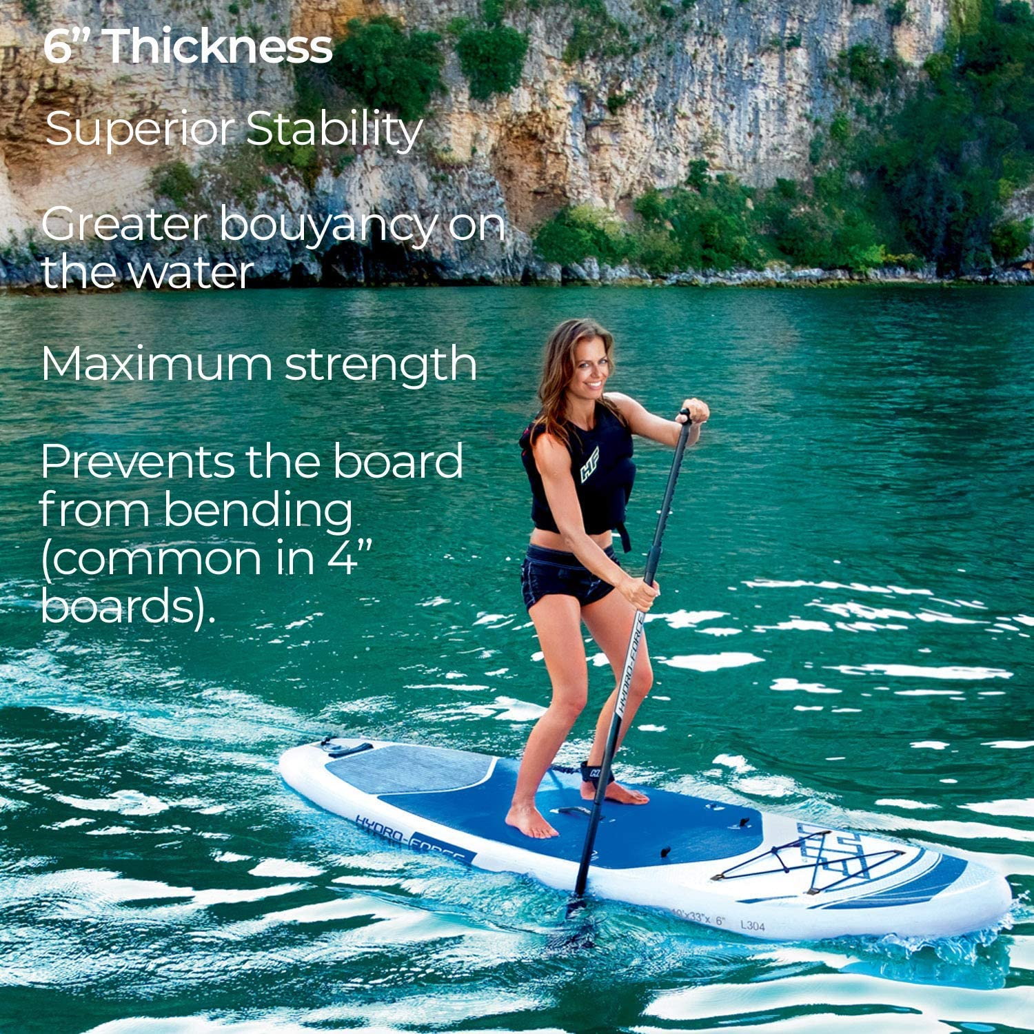 Amazon.com: Bestway inflable Hydro Force 10 foot Oceana Sup ...