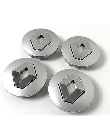 Set de 4centros de tapacubos de Renault, llantas de aleación,