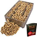 """Kaduf Pellet Smoker Tray 5"""" x 8"""" - 12 Hours of Billowing Smoke, Perfect for Hot and Cold Smoking Meat, Fish, Cheese with Wood Pellets – Works in any Type of Grill or Smoker, Free eBook Smoking Recipes"""