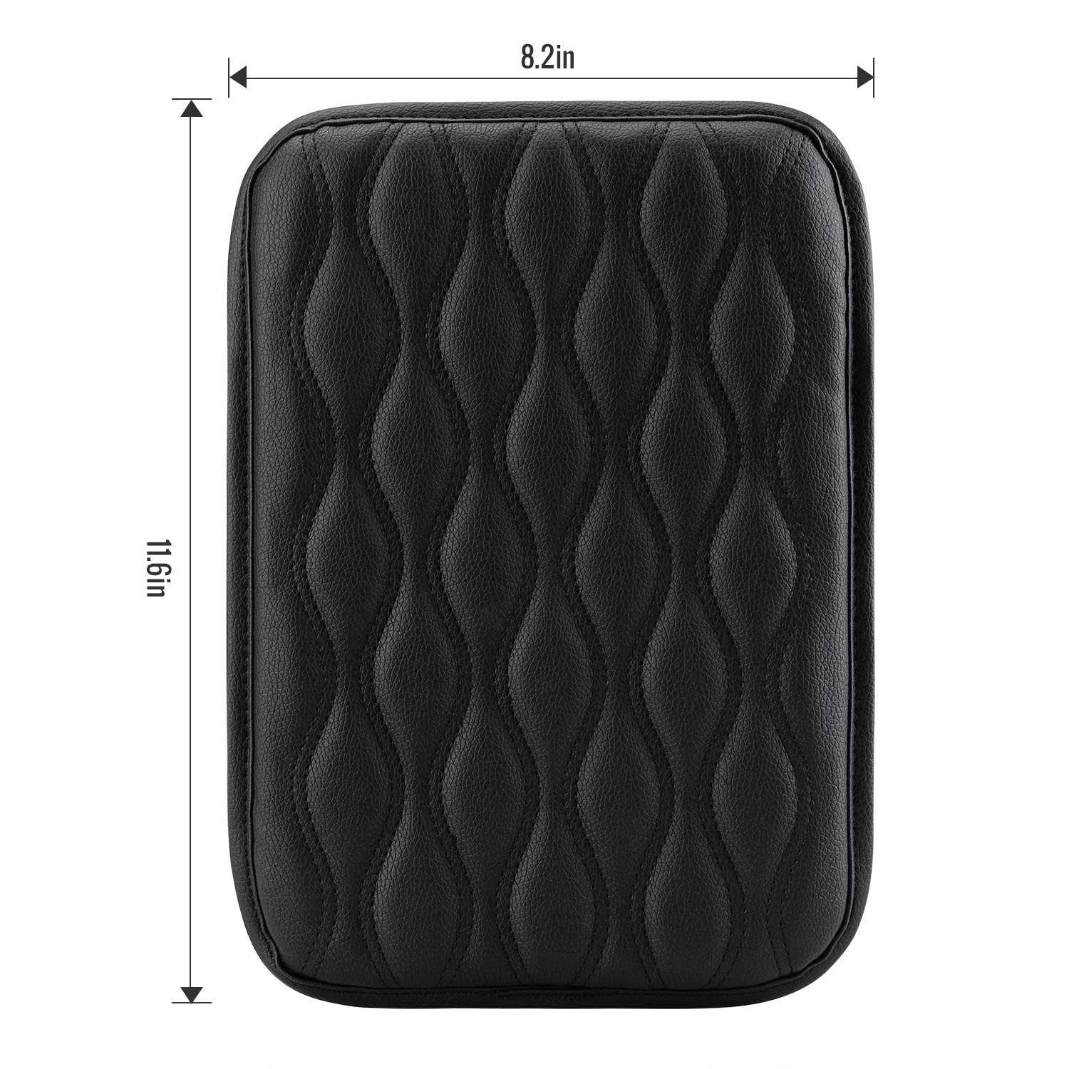 Seven Sparta Universal Center Console Cover for Most Vehicle, SUV, Truck, Car, Waterproof Armrest Cover Center Console Pad, Car Armrest Seat Box Cover Protector(Black)