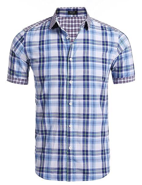 Coofandy - Camisa Casual - para Hombre  Amazon.es  Ropa y accesorios 2a8ba0d506f