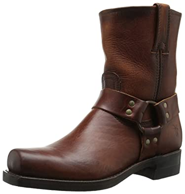 FRYE Men's Harness 8R Harness Boot, Cognac Soft Vintage Leather, ...