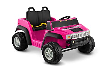 kid motorz hummer h2 two seater 12v pink