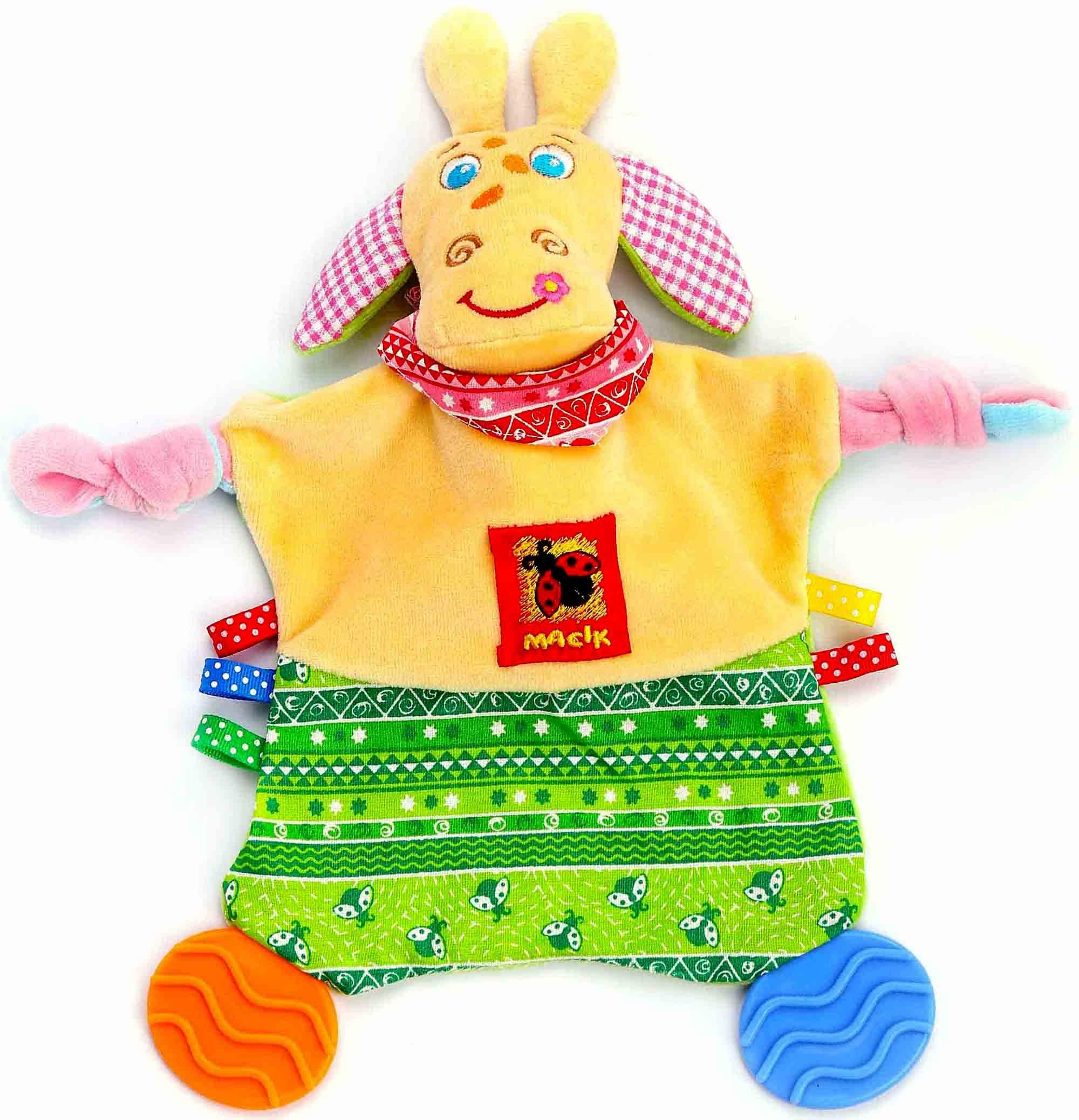 Newborn Teething Toy Security Animal Blanket with Tags 12'' - Newborn Toys - Security Blanket - Baby Teething Toys - Tag Toy for Babies Infants - Teething Blanket Boys Girls - Crinkle Blanket 0 3 6 mon