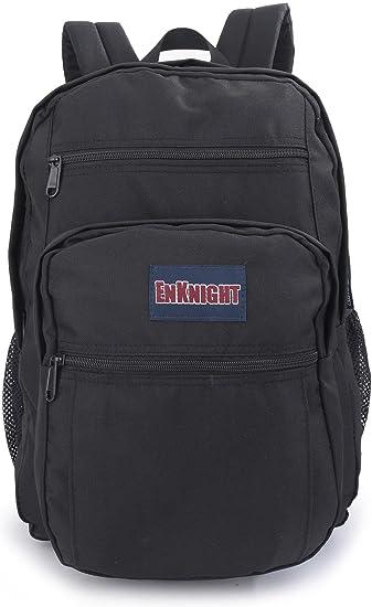 Amazon.com: ENKNIGHT Big Waterproof College Backpack-Black: Sports ...