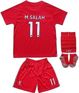 16c6b856f LES TRICOT 2018 2019 Liverpool Home  11 Salah Football Futbol Soccer Kids  Jersey Shorts
