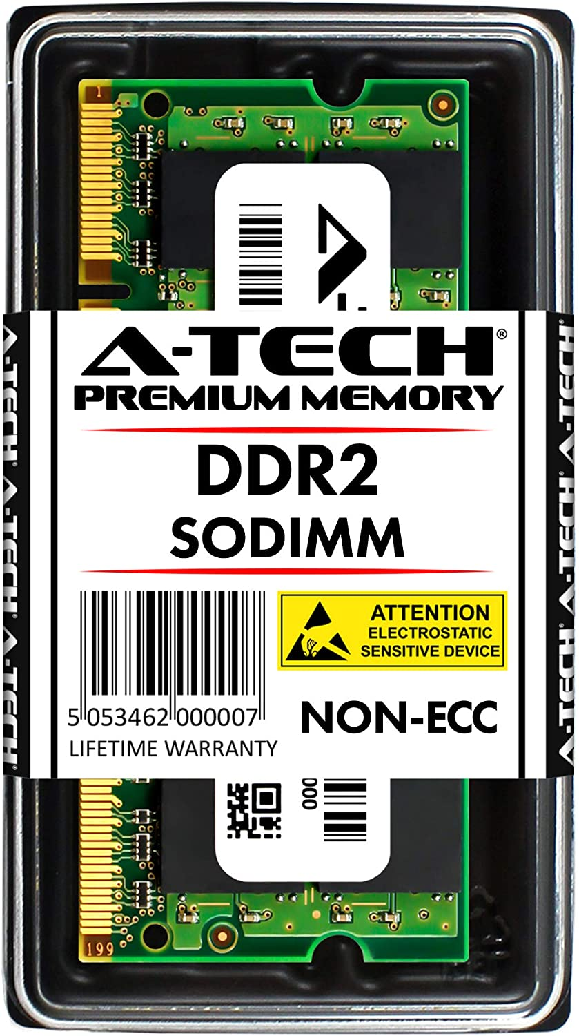 A-Tech 4GB Stick for Dell Studio Notebook Series 1537 1555 1737 - DDR2 800MHz PC2-6400 SO-DIMM RAM Memory