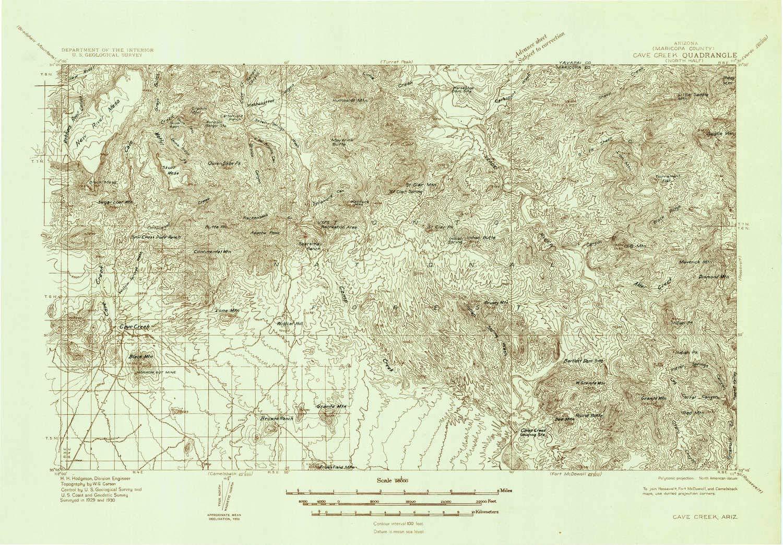 Az Topographic Map.Amazon Com Yellowmaps Cave Creek Az Topo Map 1 96000 Scale 30 X