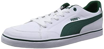 Puma Smash Leather, Unisex-Erwachsene Sneaker, Weiß White-Amazon Green 22, 44.5 EU