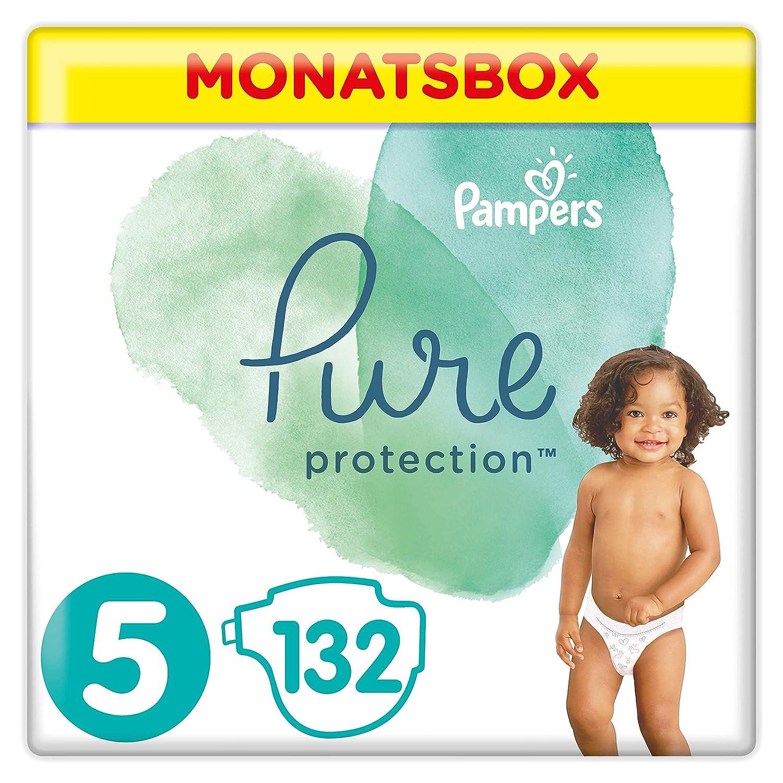 Pampers Pure Protection Lot de 132 tubes de protection Taille 5 11 kg