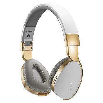 Divacore ADDICT-Auriculares de diadema inalámbricos y Transmisor HD 30H NFC, color blanco y dorado: Amazon.es: Electrónica