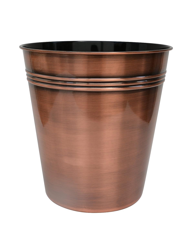 Bathsense cm1391 copper bathroom wastebasket trash can refuse disposal bin copper home garden - Copper wastebasket ...