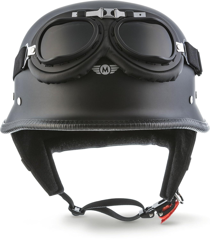 "brain cap bobber half shells grey-white size: S-XXL 55 cm - 64 cm Moto D33-Set /""Army Snow/"" jet helmet retro scooter helmet for scooter or moped chopper motorbike helmet"
