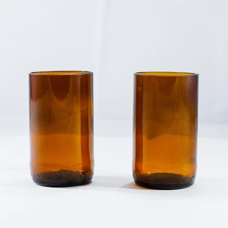 Juego de 2 vasos de cerveza de color marrón ámbar con diseño de Budweiser, 16 oz, juego de 4, juego de 6