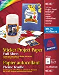 Avery Sticker Project Paper for Inkjet Printers, White, 15 Pack (3383)