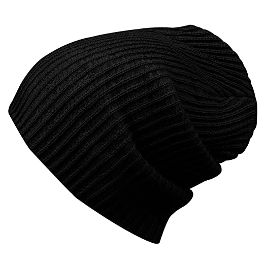 15337778c6c Morehats Corduroy Knit Slouchy Beanie Winter Warm Ski Skater Hip-hop Hat -  Black. Roll over image to zoom in
