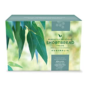 Australian Gift Set Shortbread Cookies Biscuits TWIN Box, 1 box of Macadamia & 1 Box of Wild Lime & Coconut, 20 Count in Each Box, perfect as an Aussie Gift.