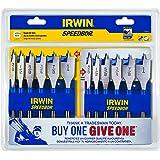 Irwin Tools 1856841 Speedbor Blue Groove, 6-Piece - Buy One, Give One