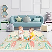 Luchild Babyspeelmat, kruipmat, opvouwbaar, milieuvriendelijk, XPE-materiaal, dubbelzijdig speelbaar, waterdicht (200 x…
