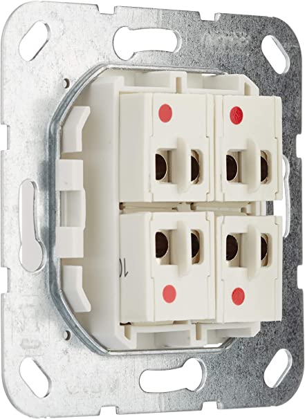 Gira 569403 Speaker Connector 4-Way Use Pure White