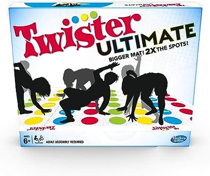 Twister Ultimate: Alfombra más Grande, Manchas de Colores, Familia, Juego de Fiesta para niños a Partir de 6 años; Compatible con Alexa (Exclusivo de Amazon): Amazon.es: Juguetes y juegos