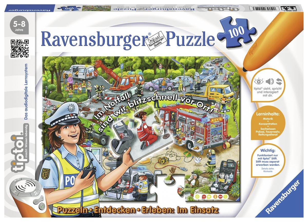 Ravensburger 00518 - tiptoi Ponyhof Puzzeln, 100 Teile Ravensburger Spielverlag B004DL15E2 Tiere Kinderpuzzles