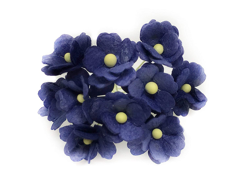 Amazon Com 1 5cm Navy Blue Mulberry Paper Flowers Navy Paper