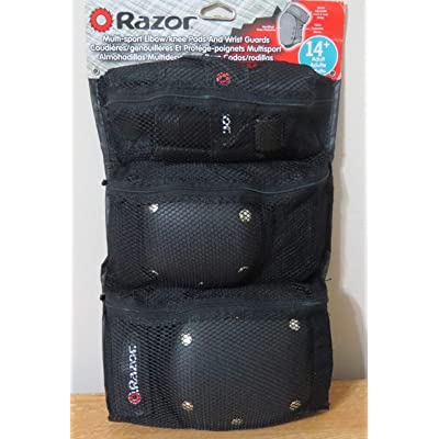 Razor Multi-sport Elbow/knee Pads and Wrist Guards 8+ - Black: Toys & Games