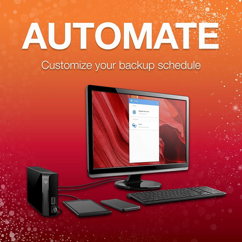 USB 3.0 2 USB Ports 2 Months Adobe CC Photography STEL10000400 for Computer Desktop Workstation PC Laptop Mac Seagate Backup Plus Hub 10TB External Hard Drive Desktop HDD