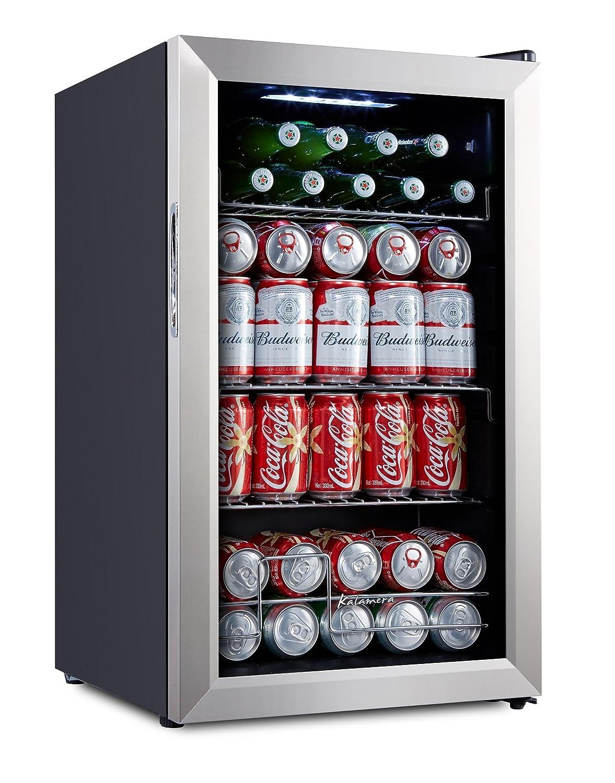 Kalamera KRC-70BV 93 Can Compressor Beverage Refrigerator, Black Kalamera Inc