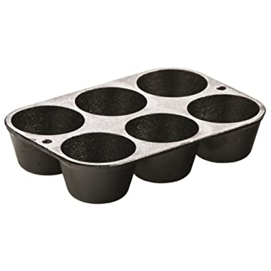 Lodge L5P3 Cast Iron Cookware Mini Muffin/Cornbread Pan, Pre-Seasoned