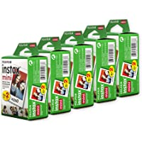 Fujifilm Instax Mini Film, Multi-Pack White (5 x 20pk, 100 shots total)