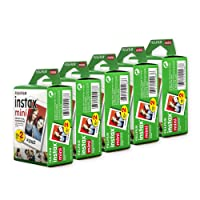 Fujifilm Instax Mini Film, Multi-Pack White (5 x 2pk, 100 shots total)
