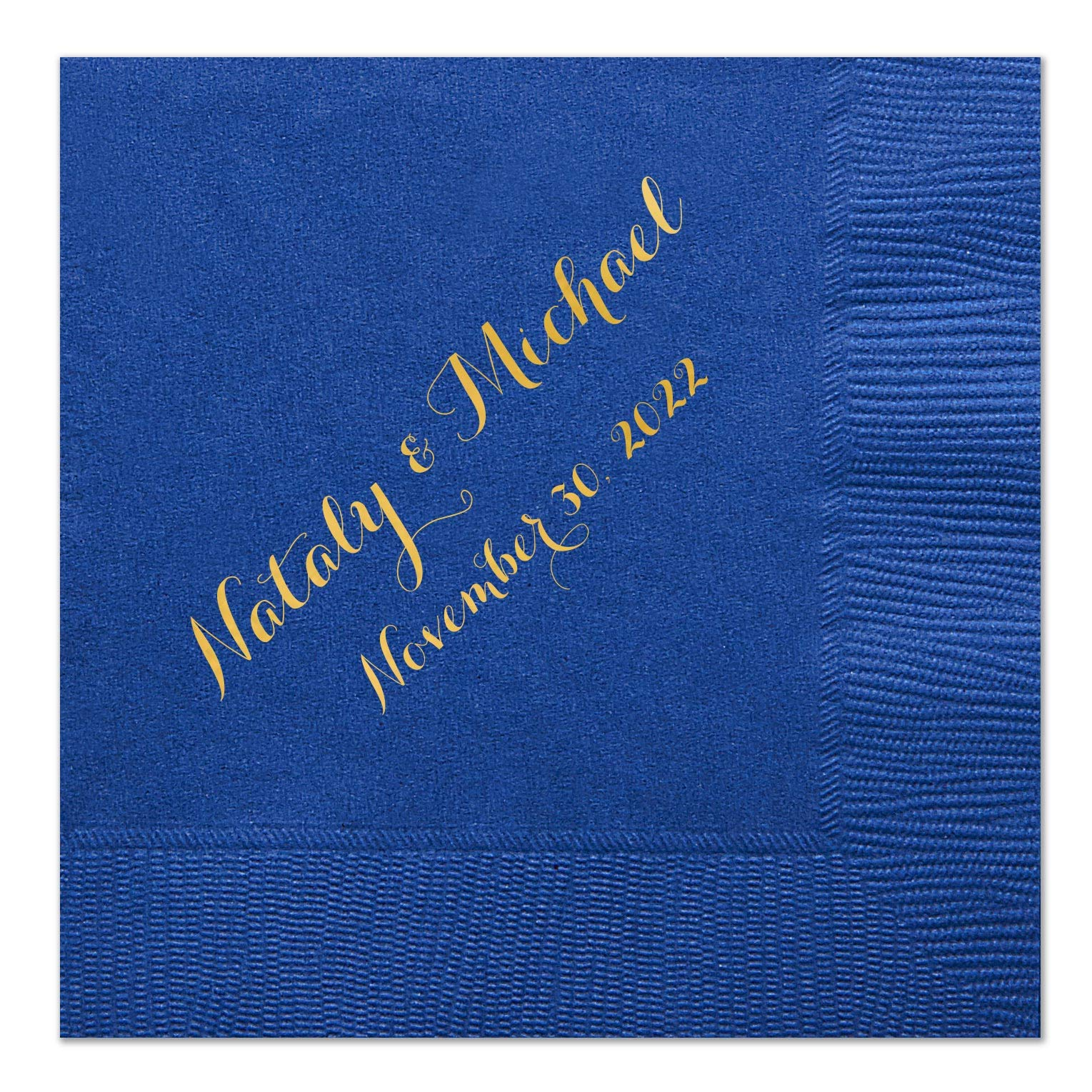 Personalized Wedding Cocktail Napkins with Bride and Grooms Names, 100 Custom Wedding Napkins by ForYourParty