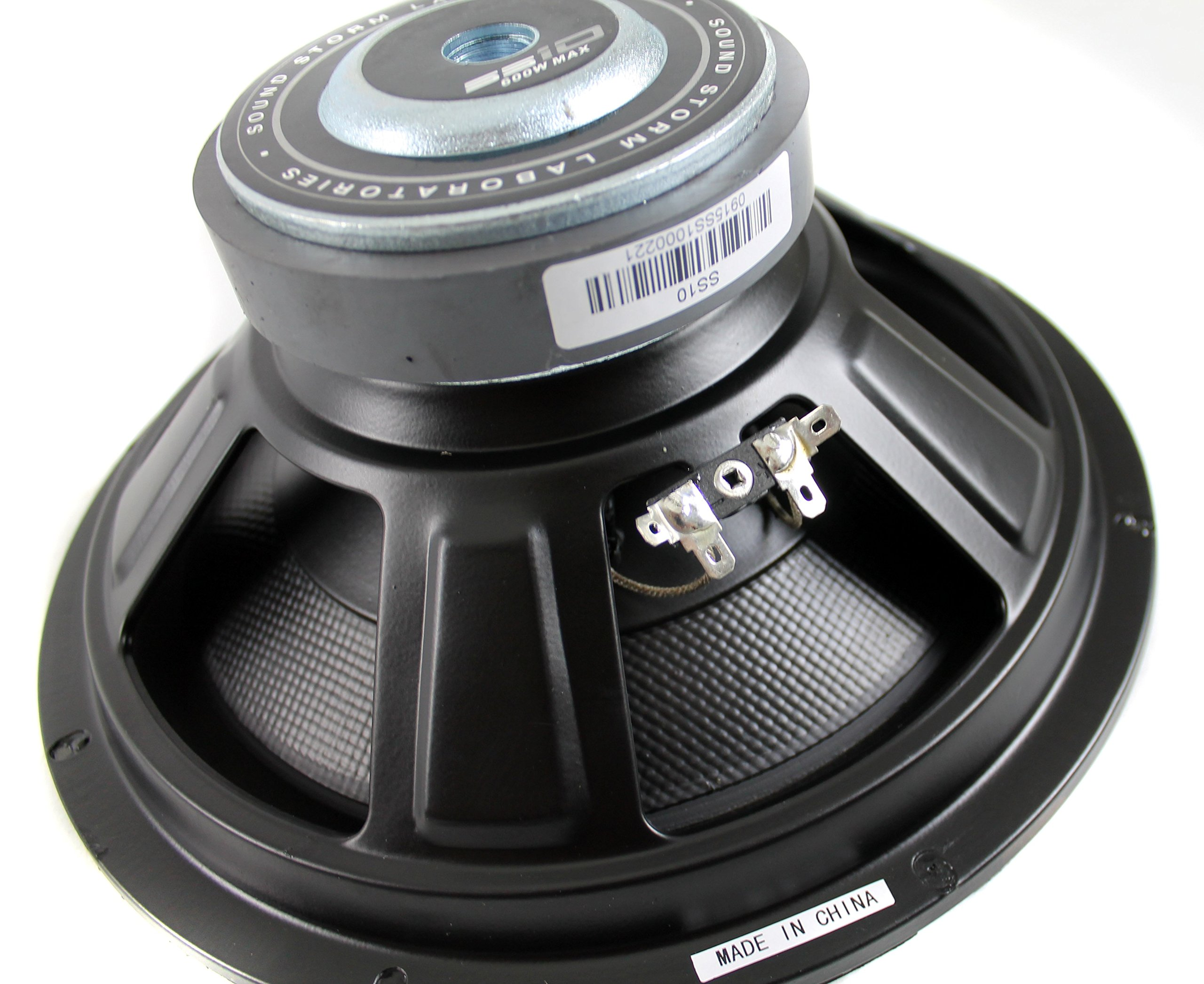 Sound Storm SS10 10 Inch, 600 Watt, Single 4 Ohm Voice Coil Car Subwoofer