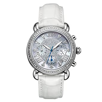 df21f4492 JBW Luxury Women's Victory 0.16 Carat Diamond Wrist Watch with Leather  Bracelet