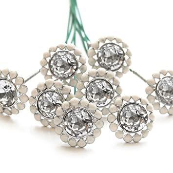 c81f82c3c36f Image Unavailable. Image not available for. Color  Swarovski Flower Brooch  ...