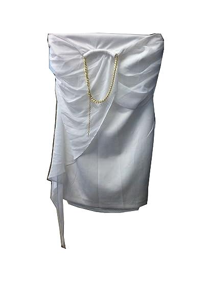 d9707f0dd2 Thalia Sodi Chain-Neck Halter Dress White at Amazon Women s Clothing ...