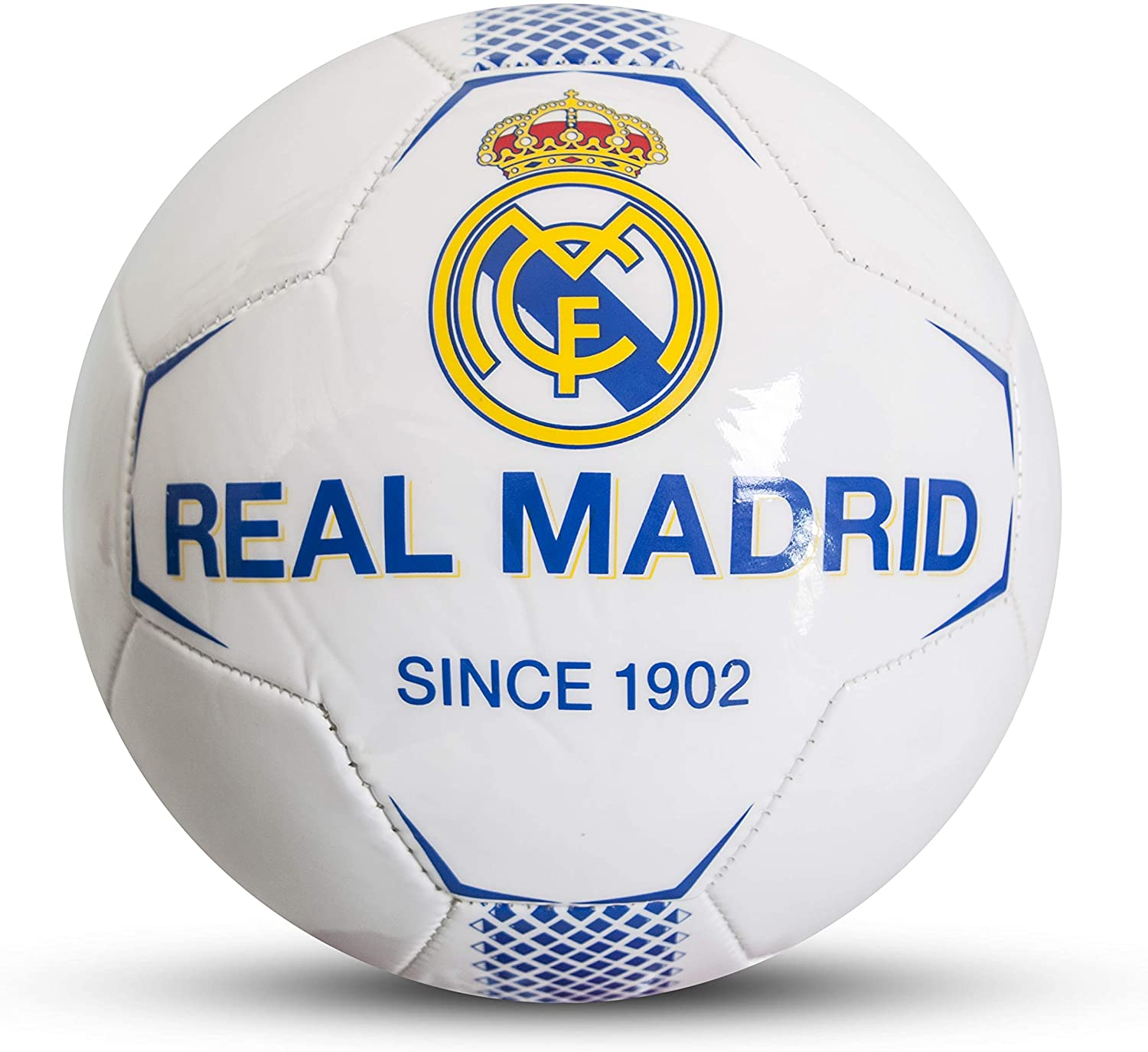 Real Madrid - Balón de fútbol Infantil, Color Blanco, Talla 5 ...