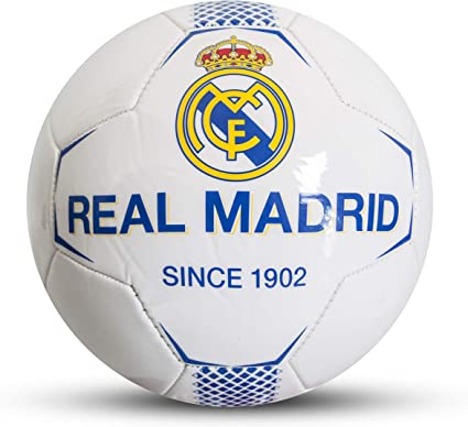Real Madrid F.C. Balón de fútbol para niños, Blanco, 5: Amazon.es ...
