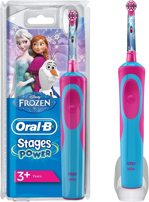 Oral B Stages Power Kids Elektrische Zahnbürste, mit Figuren aus Die Eiskönigin – Völlig unverfroren