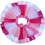 キッズTUTU カラーチュチュ スカート 子供ドレスのアンダースカート レインボーのようなチュチュ スカート ミニ キッズ hiphop ダンス 衣装 結婚式 発表会 子供プリンセスパニエ