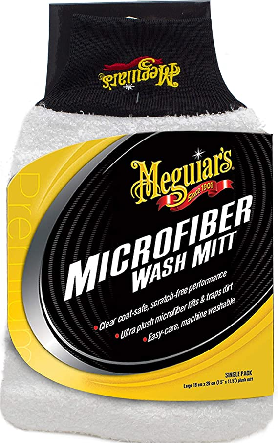 MEGUIARS RG203 Yellow 5 US Gallon Bucket with Luxurious Lambs Wool Wash Mitt