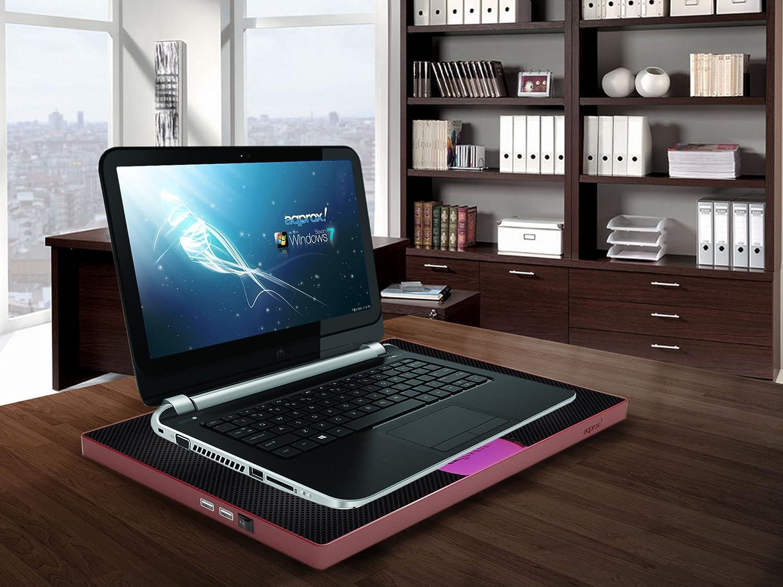 Approx APPNBC05R - Base de refrigeración para portátil (2.0, 5 V, USB), negro y rojo: Amazon.es: Informática